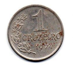 1974 - 1 Cruzeiro - Moeda Brasil - Estado de Conservação: Bem Conservada (BC)