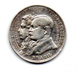 1922 - 2000 Réis - Prata .900 - Comemorativa Centenário da Independência - Variante D.Pedro. I. (Dois pontos)  -