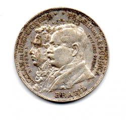 1922 - 2000 Réis - Prata .900 - Comemorativa Centenário da Independência - Variante D.Pedro I. -