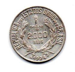 1924 - 2000 Réis - Mocinha - Prata - Moeda Brasil