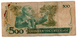 C189 - 500 Cruzados - Villa Lobos - Data: 1986 - Estado de Conservação: Regular (R)
