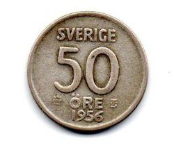 Suécia - 1956 - 50 Ore - Prata .400 - Aprox. 4,8 g - 22mm