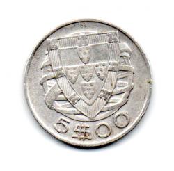 Portugal - 1942 - 5 Escudos - Prata .650 - Aprox 7g - 25 mm