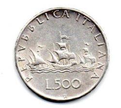 Itália - 1965 - 500 Lire - Prata .835 - Aprox 11 g - 29 mm