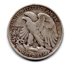 Estados Unidos - 1942S - 50 Cents - Half Dollar - Walking Liberty - Prata .900 - Aprox. 12.5g - 30,6mm