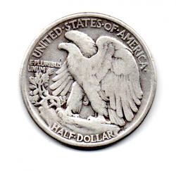 Estados Unidos - 1942 - 50 Cents - Half Dollar - Walking Liberty - Prata .900 - Aprox. 12.5g - 30,6mm