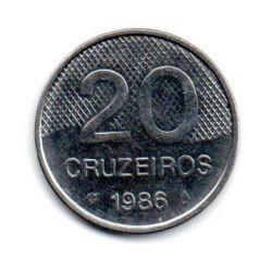 1986 - 20 Cruzeiros - Moeda Brasil - C/ Ferrugem
