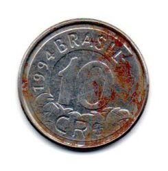 1994 - 10 Cruzeiros Reais- Moeda Brasil - C/ Ferrugem