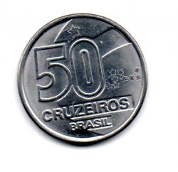 1990 - 50 Cruzeiros - Moeda Brasil - C/ Danos