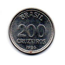 1986 - 200 Cruzeiros - ERRO : Duplicação ( data ) - Moeda Brasil