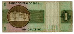 C129a - *Asterisco - 1 Cruzeiro - Cédula de Reposição - Série A00016* - Data: 1970 - BC
