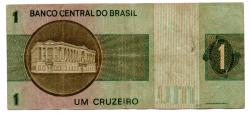 C129a - *Asterisco - 1 Cruzeiro - Cédula de Reposição - Série A00017* - Data: 1970 - BC