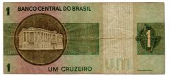 C129a - *Asterisco - 1 Cruzeiro - Cédula de Reposição - Série A00022* - Data: 1970 - BC