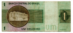 C129a - *Asterisco - 1 Cruzeiro - Cédula de Reposição - Série A00023* - Data: 1970 - MBC