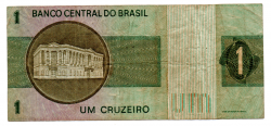 C129a - *Asterisco - 1 Cruzeiro - Cédula de Reposição - Série A00032* - Data: 1970 - BC