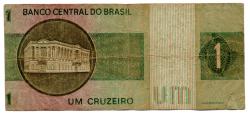 C129a - *Asterisco - 1 Cruzeiro - Cédula de Reposição - Série A00038* - Data: 1970 - R