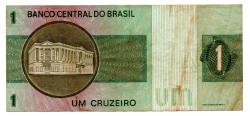 C129a - *Asterisco - 1 Cruzeiro - Cédula de Reposição - Série A00039* - Data: 1970 - MBC