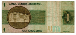 C129a - *Asterisco - 1 Cruzeiro - Cédula de Reposição - Série A00042* - Data: 1970 - BC