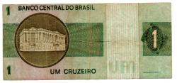 C129a - *Asterisco - 1 Cruzeiro - Cédula de Reposição - Série A00047* - Data: 1970 - BC