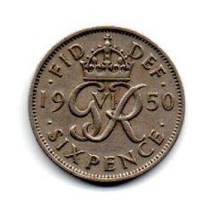 Grã-Bretanha - 1950 - 6 Pence