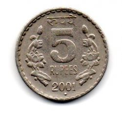 Índia - 2001 - 5 Rupees