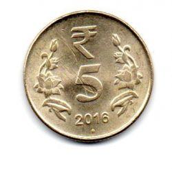 Índia - 2016 - 5 Rupees