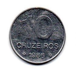 1986 - 10 Cruzeiros - Moeda Brasil - Estado de Conservação: Muito Bem Conservada (MBC)