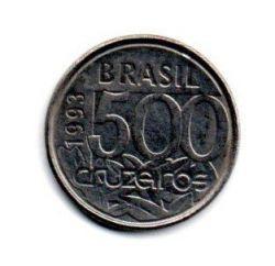 1993 - 500 Cruzeiros - Moeda Brasil - Estado de Conservação: Muito Bem Conservada (MBC)