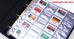 Etiquetas Moedas do Mundo - 193 Países - Medidas das etiquetas 48mm x 48mm - Ideal para Pasta de Coin Holder