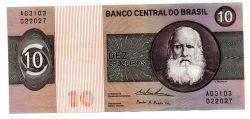 C138 - 10 Cruzeiros - Dom Pedro II - Data: 1974 - Estado de Conservação: Soberba (Sob)