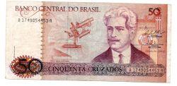 C183 - 50 Cruzados - Oswaldo Cruz - Data: 1987 - Estado de Conservação: MBC/SOB