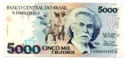 C219 - 5000 Cruzeiros - Carlos Gomes - Data: 1990 - Estado de Conservação: MBC/Sob