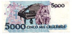 C220 - 5000 Cruzeiros - Carlos Gomes - Data: 1992 - Estado de Conservação: MBC/SOB