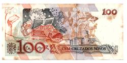 C207 - 100 Cruzados Novos - Cecília Meireles - Data: 1989 - Estado de Conservação: MBC/SOB