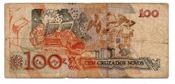 C207 - 100 Cruzados Novos - Cecília Meireles - Data: 1989 - Estado de Conservação: Regular (R)