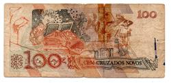 C207 - 100 Cruzados Novos - Cecília Meireles - Data: 1989 - Estado de Conservação: Um Tanto Gasta (UTG) - (Obs.: Pode conter: Rasuras / Riscos / Rasgos / Fitas / Durex / Etc...)