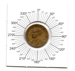 1944 - 20 Centavos - ERRO : Reverso Inclinado - Com Sigla OM - Moeda Brasil