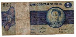 C134 - 5 Cruzeiros - Dom Pedro I - Data: 1973 - Estado de Conservação: Bem Conservada (BC)