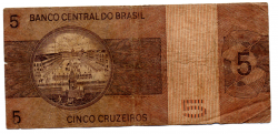 C134 - 5 Cruzeiros - Dom Pedro I - Data: 1973 - Estado de Conservação: Regular (R)
