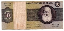 C140 - 10 Cruzeiros - Dom Pedro I - Data: 1980 - Estado de Conservação: Muito Bem Conservada (MBC)