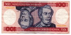 C157 - 100 Cruzeiros - Duque de Caxias - Data: 1984 - Estado de Conservação: MBC/Sob