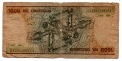 C162 - 1000 Cruzeiros - Barão do Rio Branco - Data: 1981 - Estado de Conservação: Regular (R)