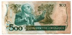C192 - 500 Cruzados - Villa Lobos - Data: 1988 - Estado de Conservação: Regular (R)