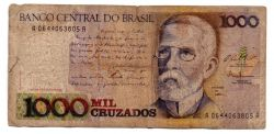 C193 - 1000 Cruzados - Machado de Assis - Data: 1994 - Estado de Conservação: Regular (R)