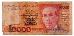 C203 - 10 Cruzados Novos (Carimbo sob 10000 Cruzados) - Carlos Chagas - Data: 1990 - Estado de Conservação:  Regular (R)