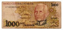 C218 - 1000 Cruzeiros - Cândido Rondon - Data: 1991 - Estado de Conservação: Bem Conservada (BC)