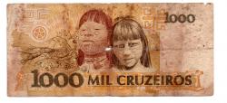 C218 - 1000 Cruzeiros - Cândido Rondon - Data: 1991 - Estado de Conservação: Regular (R)