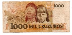 C218 - 1000 Cruzeiros - Cândido Rondon - Data: 1991 - Estado de Conservação: Um Tanto Gasta (UTG) - (Obs.: Pode conter: Rasuras / Riscos / Rasgos / Fitas / Durex /Etc..)