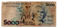 C219 - 5000 Cruzeiros - Carlos Gomes - Data: 1990 - Estado de Conservação: Regular (R)