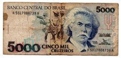 C220 - 5000 Cruzeiros - Carlos Gomes - Data: 1992 - Estado de Conservação: Bem Conservada (BC)